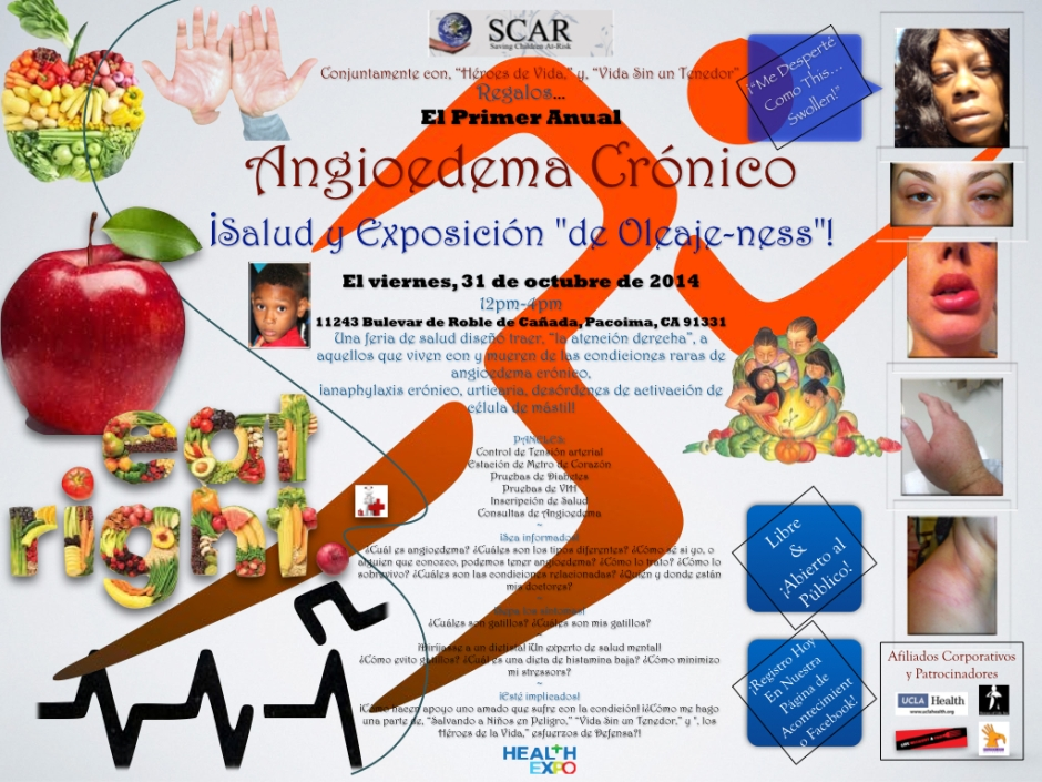 SCAR Angioedema Health Fair Expo_Spanish.001