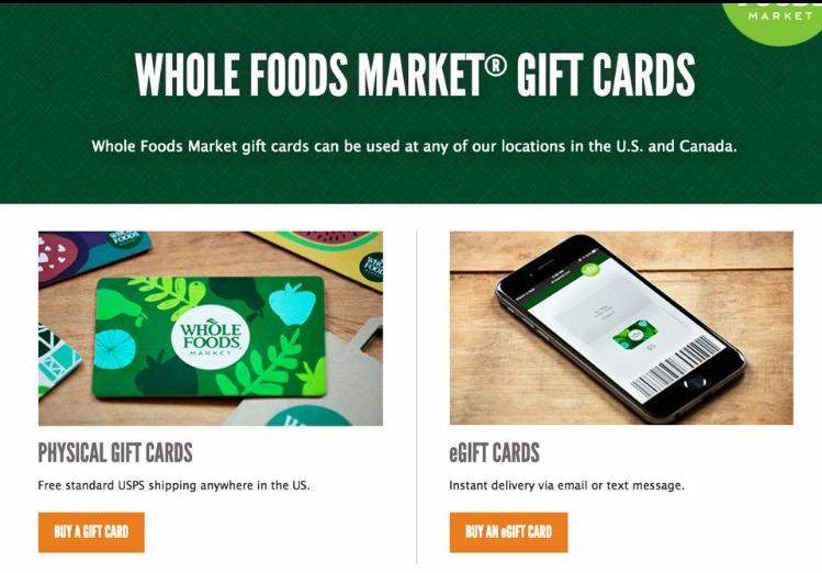 WHOLEFOODS MARKET | GIFT CARDS