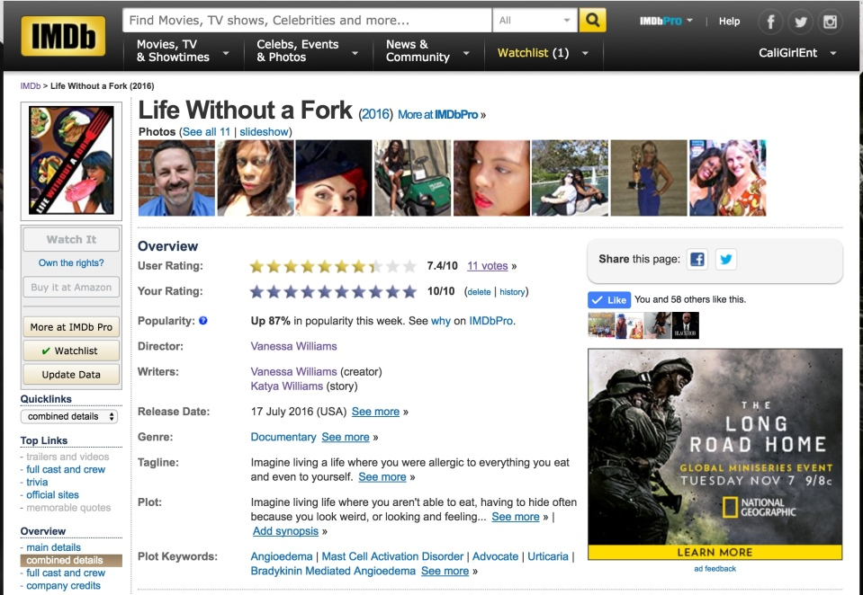 Life Without A Fork_IMDb